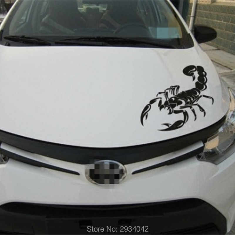 3D mobil-styling mobil depan penutup lucu scorpion dekorasi mobil stiker untuk BMW e46 e90 e39 e34 e36 x5 e53 e60 f10 f20 f30 x1 x3 x7