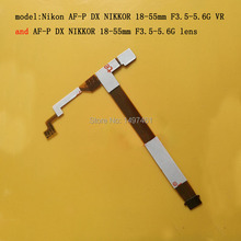 """2 sztuk ostrości i przysłony Flex cable dla Nikon AF P DX Nikkor 18 55mm f/3.5  5.6G VR (kompatybilny """"VR"""" obiektywu)"""