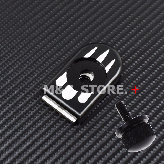 MACTIONS Seat Bolt Tab Screw Mount Knob Cover For Harley Sportster Dyna Touring Ultra Fatboy Road King Softail Softail FLHR FLHX