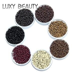 500pcs Silicone Hair Beads Nano Ring Micro Beads Fashion Salon Hairstylist Dreadlock Hair Extension Tools 8 Colors(China)