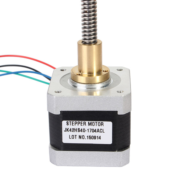 JK42HS40-1704ACL 42mm Two Phase Hybrid Linear Stepper Motor 295mm Length Of Axis For CNC Router nema17 1 8 degree 42mm 2 phase stepper motor fit adapter drive jk0220 for 3d printer cnc jk42hs40 1704