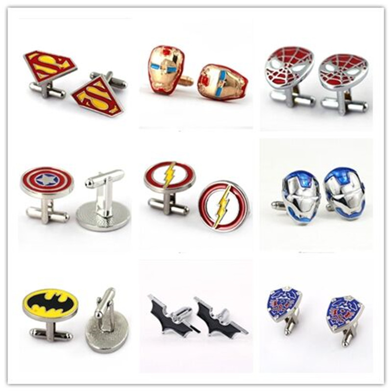 HSIC JEWELRY Metal Alloy Superhero Cuff Link Superman