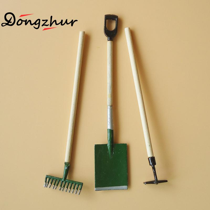 Merveilleux 3pcs/set Mini Gardening Tools Shovel/Rake/Hoes Dollhouse Miniatures 1:12  Accessories Miniature Dollhouse Furniture Toy Ingbaby In Doll Houses From  Toys ...