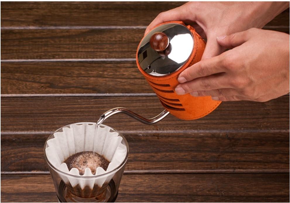 Wourmth 5 шт. высококачественный костяного фарфора кофейник, набор домашнего креативного керамического Пномпеня роскошный кофе чашка днем Под... - 6