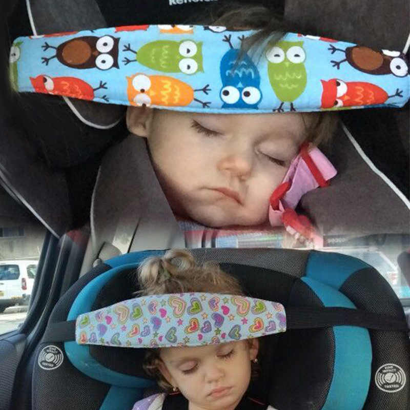 Baby Kid Head Support Holder Sleeping Belt Adjustable Safety Nap Aid Stroller Car Seat Sleep Nap Holder Belt Pad Strap