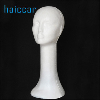 New fashion Female mannequin model of head foam neck long hair hat wig goggle Display Stand Dropship mannequin