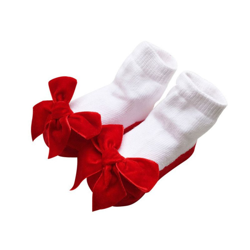 2019 New Style Baby Infant Socks Newborns Girls Princess Bow Knot Socks Holiday Birthday Gifts Structural Disabilities