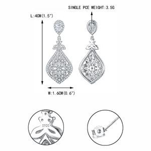 Image 5 - Tuliper Bridal Wedding Earrings For Women Femme свадебные серьги kolczyki Slubne Zircon Party Jewelry 귀걸이 Prom