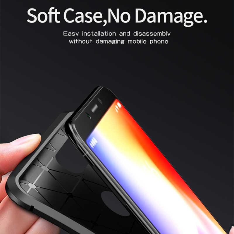 สำหรับ Xiaomi Redmi 6 กรณี IPAKY Redmi 6 Pro กรณีซิลิโคน TPU คาร์บอนไฟเบอร์เกราะไฮบริดกันกระแทกสำหรับ Xiaomi redmi 6A กรณี