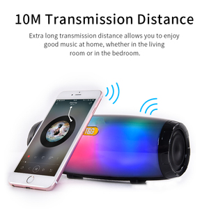 Image 3 - TG165 Portable Bluetooth Speaker Stereo Leather Column 5 Flash Style LED Subwoofer Wireless Outdoor Music Box FM Radio TF Card