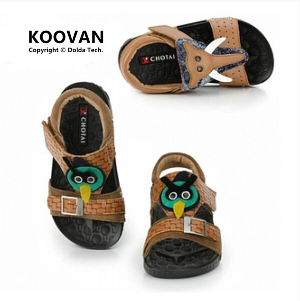 2016 Hot Summer Boys Shoes Sandals Childrens Sandal Beach Soft Bottom Birds Kids Shoes Leather Sandal Free shipping KL2558