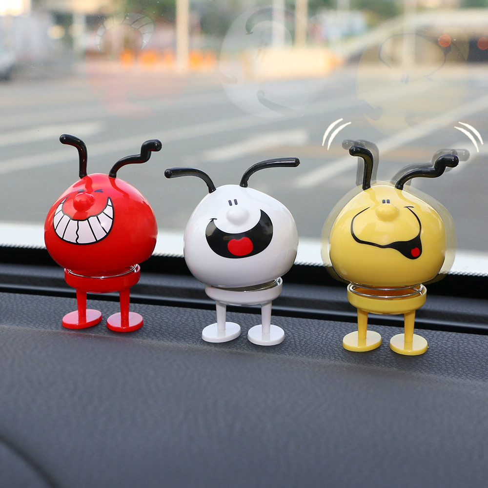 Car Ornament Cute Funny Bounce Dog Doll Automobile Interior Dashboard Decoration Jumping Toys Display Creative Decor Accessories car ornament maitreya buddha figurine cute buddhist automobile interior dashboard decoration pendant home furnishing accessories