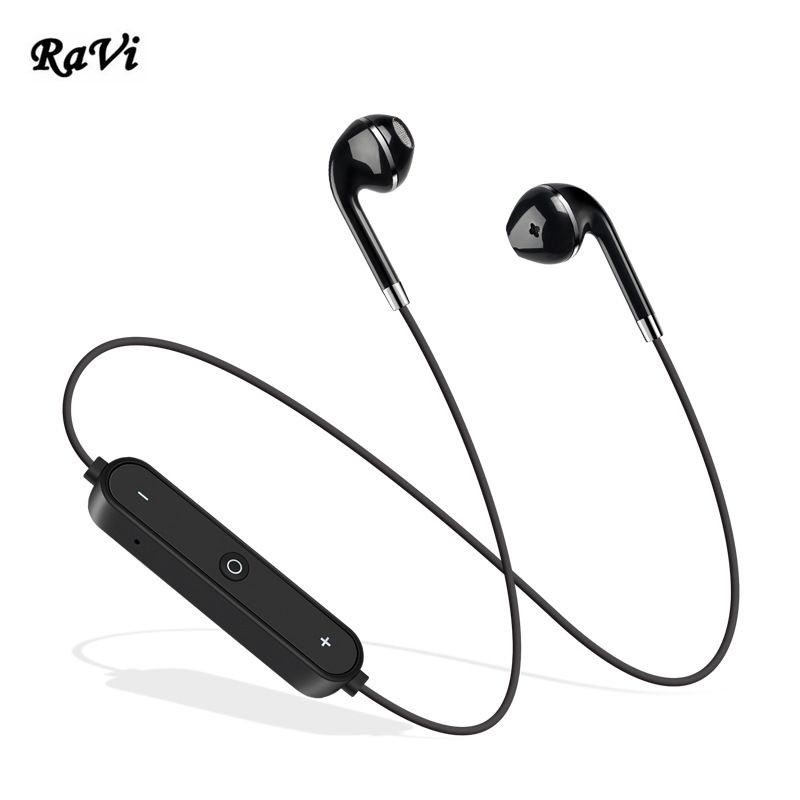 RAVI Bluetooth Earphones Neckband Sport Wireless Earphone Stereo Headset Earbud Auriculares With Mic Bluetooth Headset For Phone набор для вязания alex разноцветные шарф и шапочка 182t