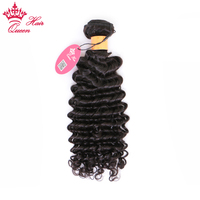Queen Hair Products Indian Deep Wave 100% Human Hair Bundles 10 30 Natural Color Remy Weave Hair Free Shipping