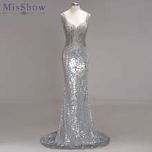MisShow 2019 Elegant Sequins Evening Dresses Mermaid