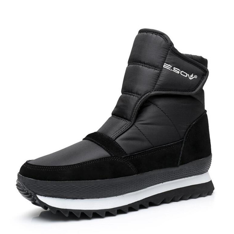 Women boots flat winter shoes plush waterproof non-slip women ankle boots warm snow boots size 35-41 ...