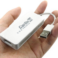 Vehemo USB navegación reproductor enlace Dongle compatible con enlace de coche Dongle inteligente enlace automático Dongle USB Dongle GPS para Apple Android Auto