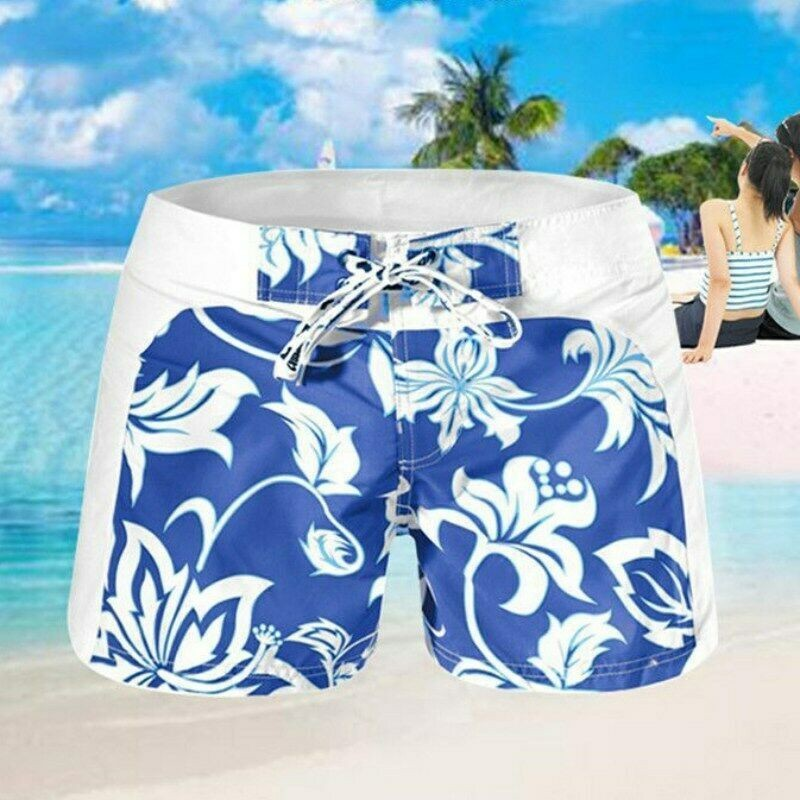 Printed Men Summer Swim Shorts Swimwear Swimming Trunks Underwear Boxer Briefs Pants