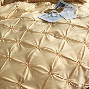 Image 3 - LOVINSUNSHINE funda de edredón de lujo juego de cama reina edredón cubre ropa de cama de lino seda AN04 #