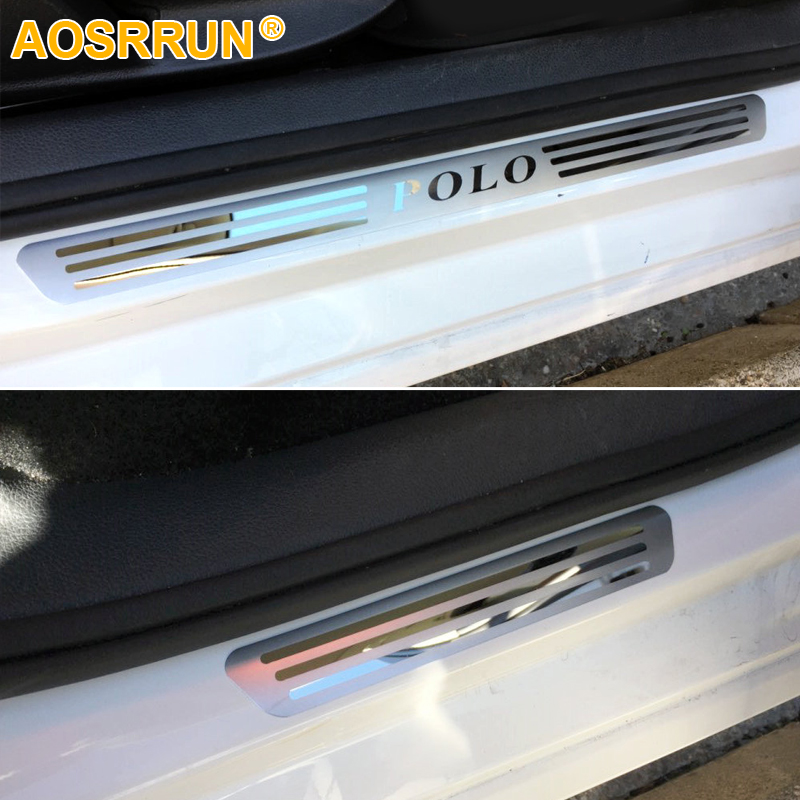 AOSRRUN Free shipping STAINLESS DOOR SCUFF SILL PANEL STEP PLATES Car Accessories For 2009 2010 2011