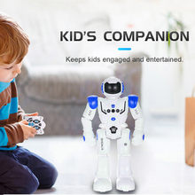 HT9930-1 New Multifunction Intelligent RC Robots Toys Intelligent Programming Gesture Sensing LED Dancing Robot RC Toys For Kids(China)