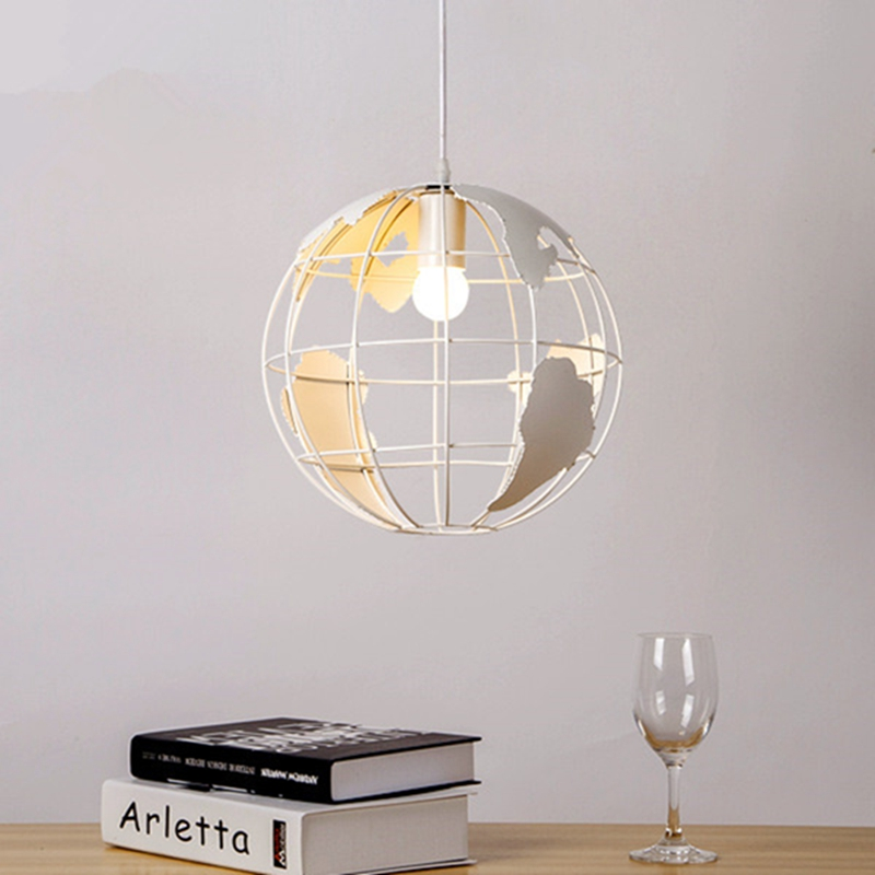 modern global earth shape lustre pendant lights living room pendant lamps restaurant suspension luminaire home lighting pendant lighting living room