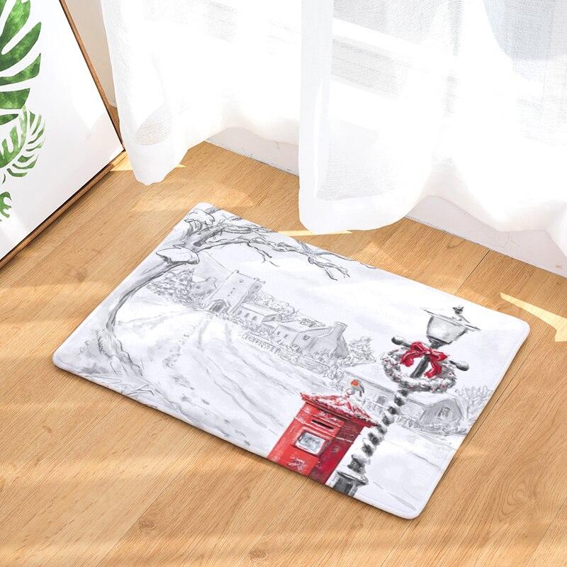 2017 New Christmas Print Carpets Non-slip Kitchen Rugs for Home Living Room Floor Mats 40x60cm