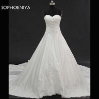 Vestido De Noiva New Arrival Sweetheart A Line Wedding Dresses 2018 Lace Beaded Bride Wedding Gown