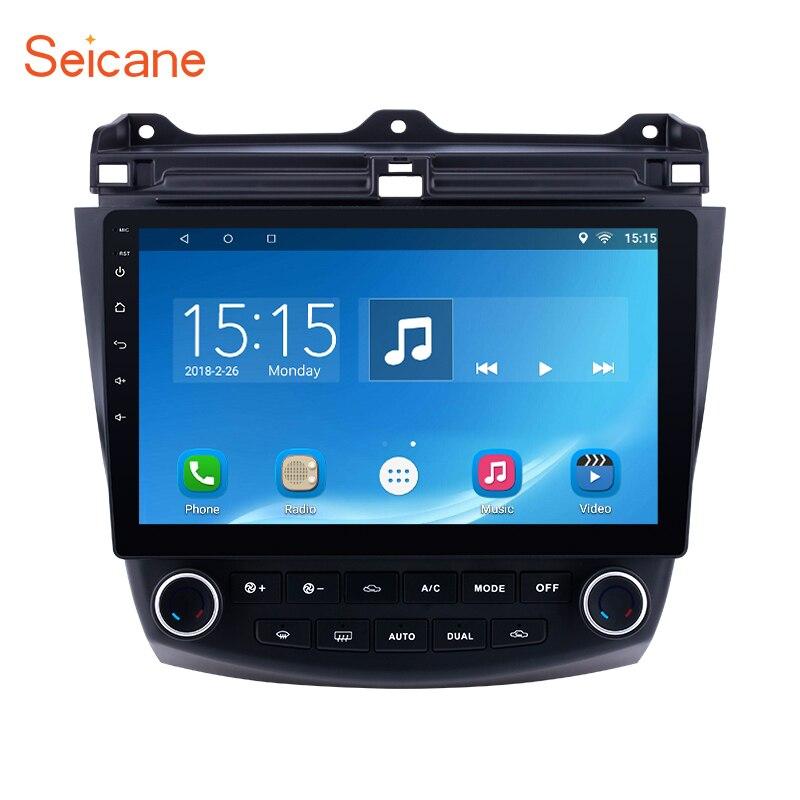 Seicane Android 8.1/7. 1 10.1 2DIN Unité De Tête de Voiture Radio Lecteur GPS Navigation Pour Honda Accord 7 2003 2004 2005-2007 quad-core