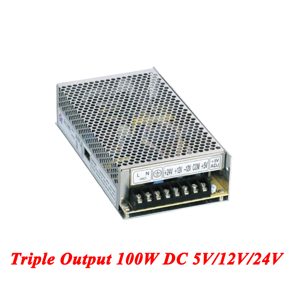 T-100D Triple output DC power supply 100W 5V 12V 24V,smps power supply for led driver,AC110V/220V Transformer to DC 5V 12V 24V s 100 12 100w 12v 8 5a single output ac dc switching power supply for led strip ac110v 220v transformer to dc led driver smps