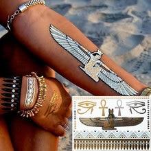 #355 Egypt Style Temporary Tattoo Metallic Jewelry Tattoos Inspired Women Body Tattoo
