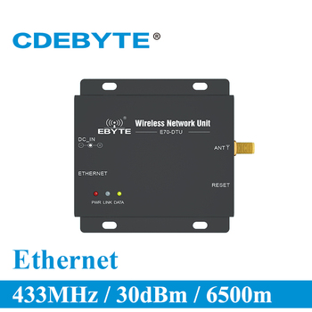 цена на E70-DTU(433NW30-ETH) Ethernet Long Range 433MHz 1W Star Network IoT uhf Wireless Transceiver rf Module 433 MHz Data Transmitter