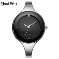 GEEKTHINK Luxury Brand Fashion Quartz Watch Women Ladies Stainless Steel Bracelet Watches Casual Clock Female Dress