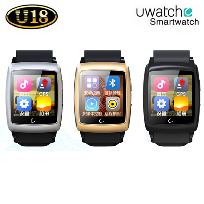 Bluetooth font b Smartwatch b font U18 Smart U Watch Android 4 4 Wristwatch W GPS