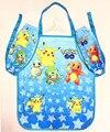 1Set Graffiti Cartoon Pikachu Pokemon Children Aprons Sleeves With Cuff Set Aprons Gifts