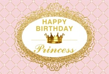 Laeacco Diamond Pattern Crown Baby Girl Birthday Party Photography Background Customized Photographic Backdrop For Photo Studio