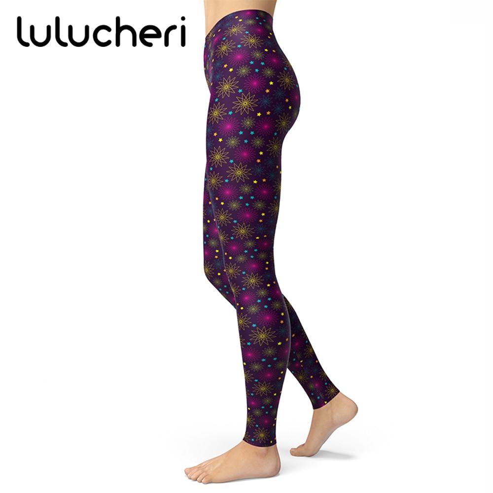 Fireworks Printed Leggings For Women Girls Brushed Buttery Soft Plus Size High Waisted Ankle Length Slim Fitness Leggins