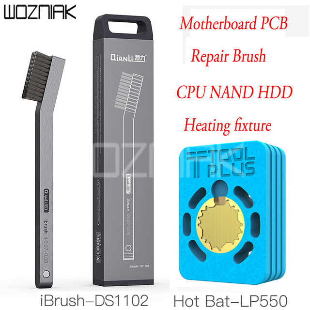 QianLi Hot Bat LP550 Heating Platform and QianLi iBrush DS1102 Meticulous Steel Brush for iPhone A8 A9 A10 A11 CPU Soldering