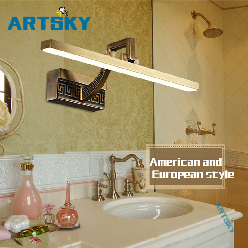 LED Luxury Wall Lights Bathroom Waterproof Rust Proof European and American Style Modern Chinese Style Mirror Lights