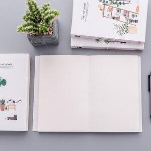 """Image 4 - """"القط النبات كراسة الرسم"""" حجم كبير الرسم المفكرة Kawaii لطيف دفتر يوميات دفتر القرطاسية هدية"""