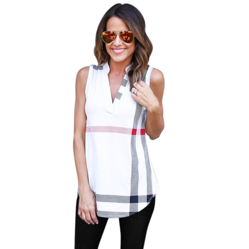 New Arrival V neck Chiffon Vest Women Casual Fashion ...