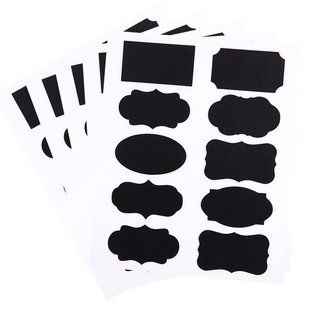 50pcs/set Blackboard Sticker Craft Kitchen Jar Organizer Chalkboard Labels Bottle Can Tags Chalkboard Sticker