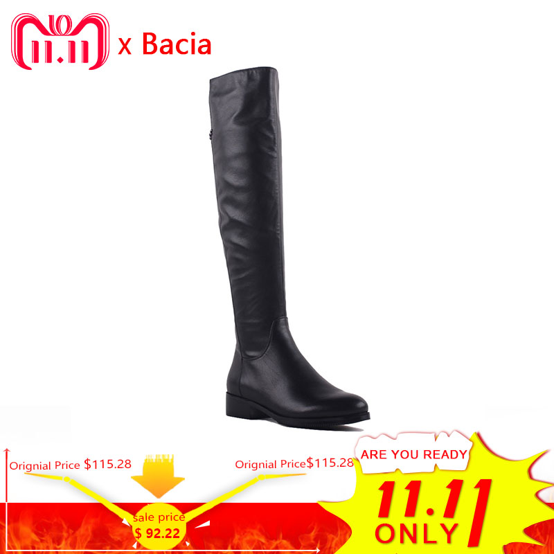 Bacia Fashion Genuine Full Grain Leather Med Heels Shoes Round Toe Heel 3.5cm Warm Winter Wool Fur & Short Plush Boots SA073 full grain leather thick warm flame patchwork lady winter fashion boots pointed toe genuine leather high heels shoes 1109
