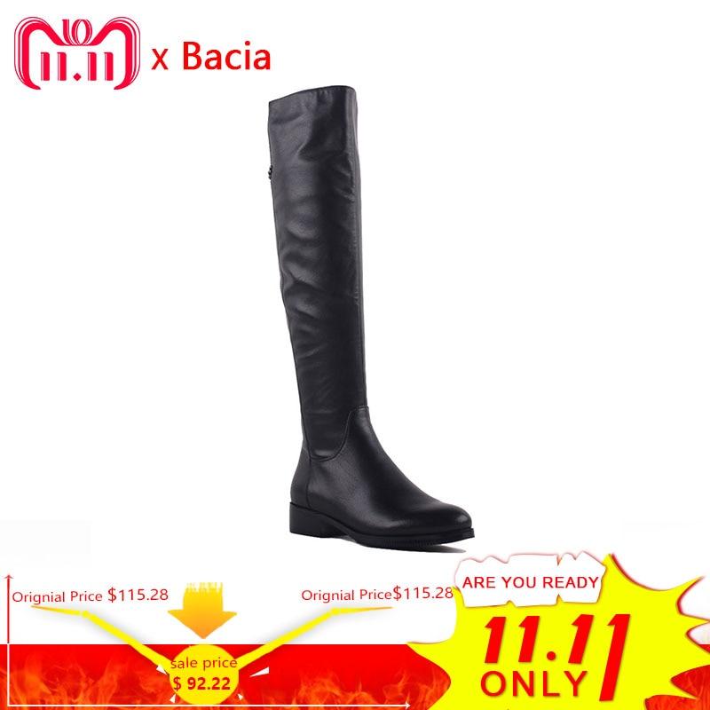 Zapatos de tacón Med de cuero de grano completo genuino de moda de Bacia de punta redonda de 3,5 cm de piel de lana cálida de invierno y botas cortas de felpa SA073