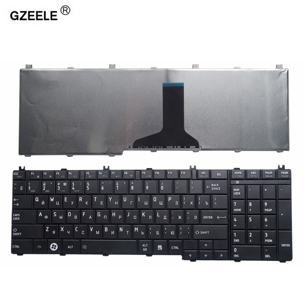 GZEELE ruso teclado del ordenador portátil para toshiba Satellite C650 C655 C660 C670 L675 L750 L755 L670 L650 L655 L670 L770 L775 L775D.