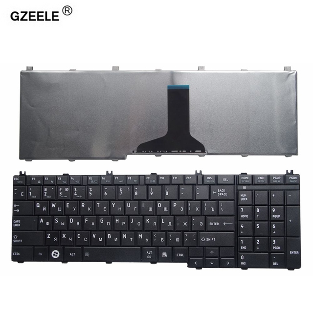 GZEELE russian laptop Keyboard for toshiba Satellite C650 C655 C660 C670 L675 L750 L755 L670 L650 L655 L670 L770 L775 L775D RU