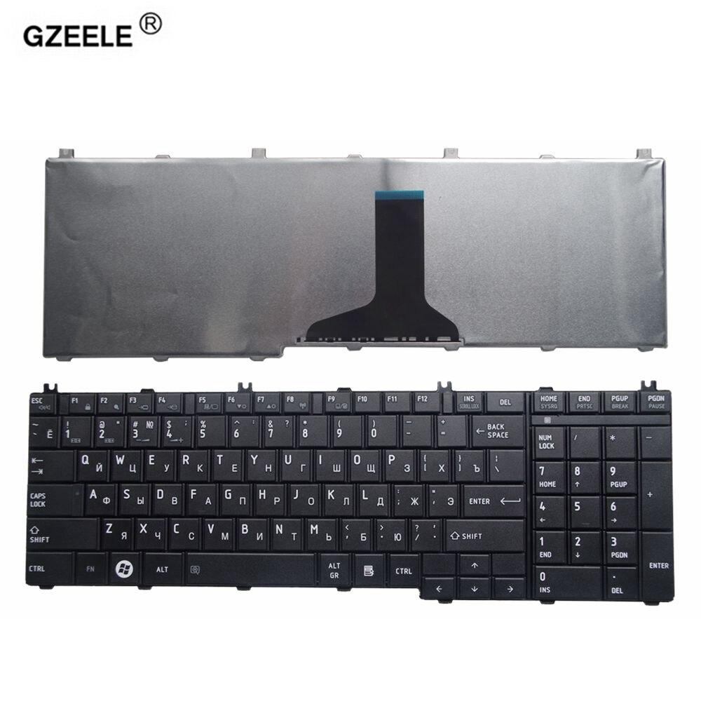GZEELE russische laptop-tastatur für toshiba Satellite C650 C655 C660 C670 L675 L750 L755 L670 L650 L655 L670 L770 L775 L775D RU