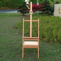 Painting Easel Foldable Adjustable Wooden Easel Artist Student Oil Sketch Easel with Drawer Higher and Larger Painting Supplies