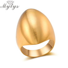Mytys New Design Metal Oval Ringar för Kvinnor Cocktail Party Smycken Accessory Fashion Guld Ring Silver Tvåfärg R1976 R1979