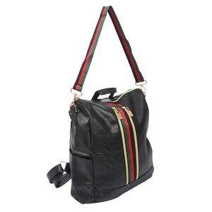 Image 3 - ผู้หญิงแฟชั่นStreet Solidกันน้ำซิปกระเป๋าสะพายกระเป๋าเป้สะพายหลังผู้หญิงหญิงCasual Travelกระเป๋าเป้สะพายหลังหนังPU